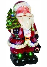 "20""H Dolomite LED Light & Music Santa Decoration"