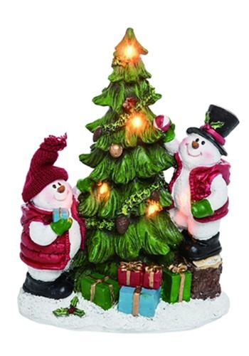 Resin Light Up Snowman Decorating Tree Christmas Decor