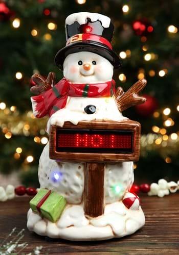 Light Up/Music Snowman w/ Sign Christmas Decor