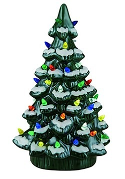 "14"" H Ceramic Light Up Christmas Tree Decor"