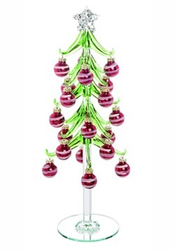 Glass Trinket Ornament Tree Christmas Décor