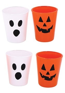 Halloween Face Shot Glasses Set of 4