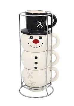 Snowman Stacking Mug Set