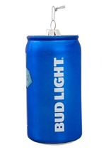 "4.75"" Bud Light Beer Can Glass Ornament Alt 2"