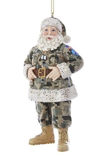 Camo Military Santa Ornament