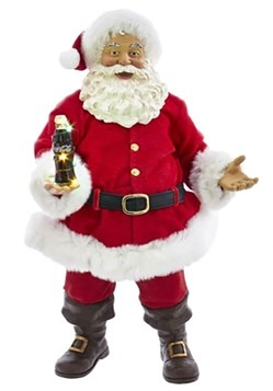 Coca Cola Santa w/ Light Up LED Bottle Décor