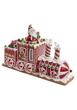 Gingerbread Junction Train w/ Santa & LED Light