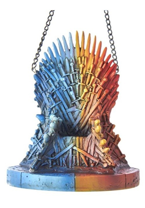 Game of Thrones Fire & Ice Colored Throne Ornament