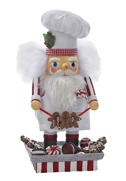 "Santa Gingerbread Chef 12"" Hollywood Nutcracker"