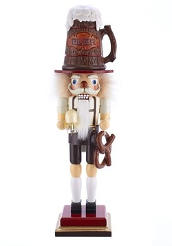 "Beer & Pretzel 17.5"" Hollywood Nutcracker"