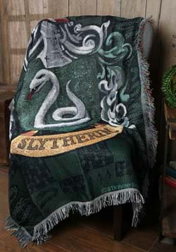 Harry Potter Slytherin Shield Woven Tapestry Blanket