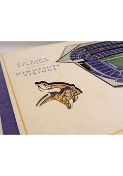 Minnesota Vikings 5-Layer Stadium Wall Art Alt 2
