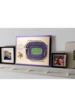 Minnesota Vikings 5-Layer Stadium Wall Art Alt 3
