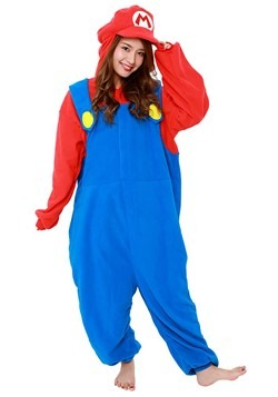 Super Mario Bros Mario Adult Kigurumi Costume