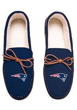 NEW ENGLAND PATRIOTS TEAM COLOR BIG LOGO MOCCASIN
