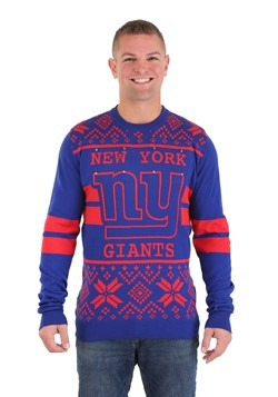 NEW YORK GIANTS 2 STRIPE BIG LOGO LIGHT UP SWEATER