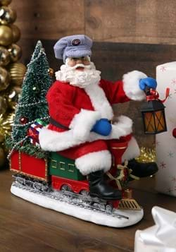 Lionel Lighted Fabriche Santa on Train Tablepiece