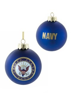 US Navy Glass Ball Ornament