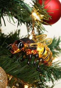 Noble Gems Glass Honey Bee Ornament