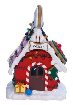 Snoopy Gingerbread House Light Decoration Alt 1