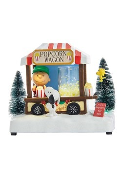 Peanuts Musical LED Popcorn Wagon Light Up Tablepi