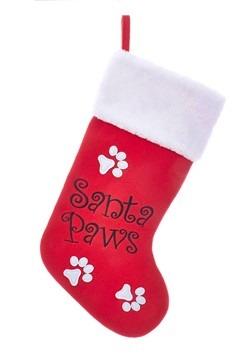 Red Santa Paws Stocking