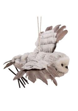 Gray Flying Owl Ornament Alt 2