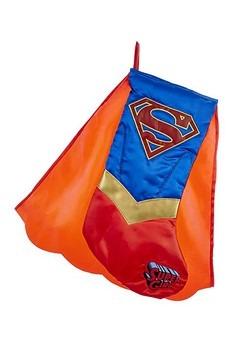 Supergirl Caped Applique Stocking