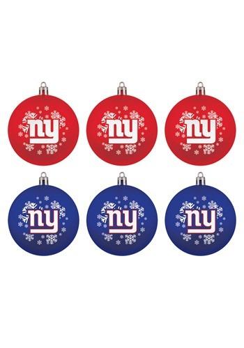 New York Giants Shatterproof Ornament 6 Pack Set