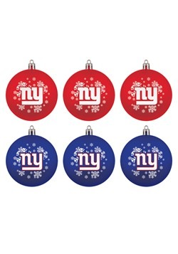New York Giants Shatterproof Ornament 6 Pack Set