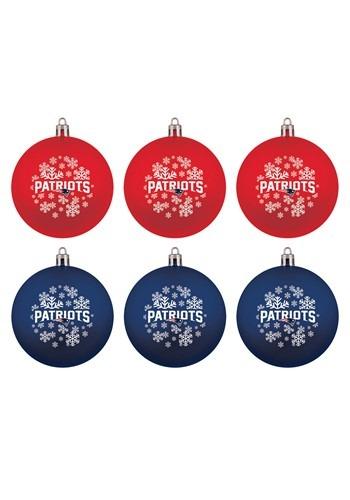 New England Patriots Shatterproof Ornaments 6 Pack