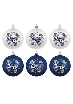 LA Rams Shatterproof Ornaments 6 Pack