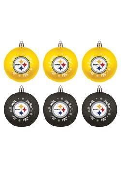 Pittsburgh Steelers Shatterproof Ornaments 6 Pack