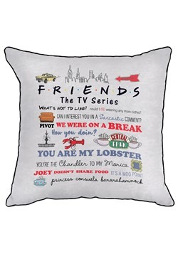 FRIENDS QUOTABLE DEC PILLOW COVER