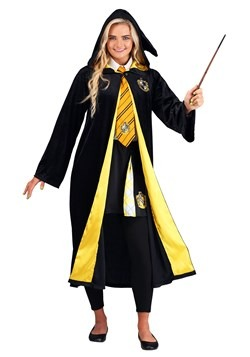 Adult Harry Potter Deluxe Hufflepuff Robe Costume3