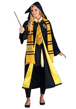 Adult Harry Potter Deluxe Hufflepuff Robe Costume4