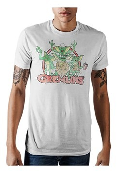Gremlins Logo Mens White Tee