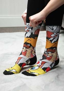 Looney Tunes Character Heads Sublimated Socks