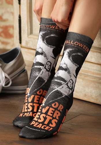 Halloween Movie Poster Sublimated Socks