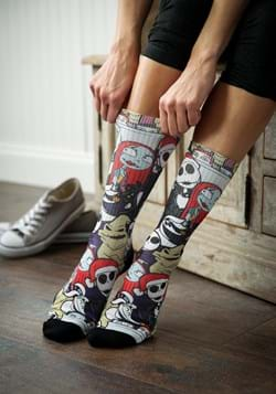 Nightmare Before Christmas Character Collage Sublimated Sock