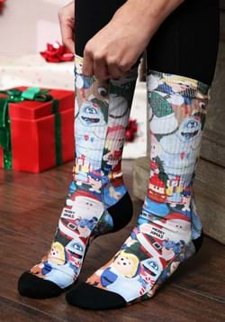 Rudolph the Red-Nosed Reindeer Sublimated Socks