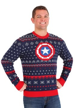 Marvel Captain America Ugly Christmas Sweater Alt 1