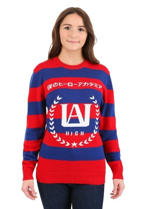 My Hero Academia Striped Sweater