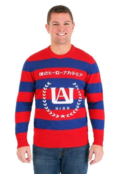 My Hero Academia Striped Sweater Alt 2