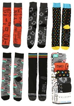 FRIENDS 5 Pack Casual Crew Socks