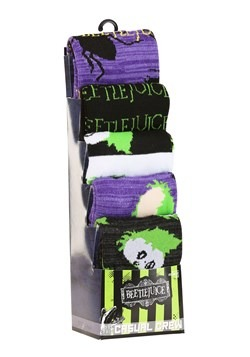 Beetlejuice Casual 5 Pack Crew Socks