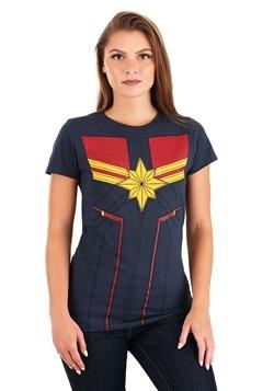 Women's I am Captain Marvel Navy T-Shirt