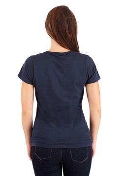 Women's I am Captain Marvel Navy T-Shirt Back
