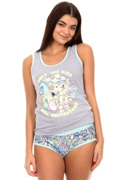 Womens 90s Nickelodeon Tank and Panty Set