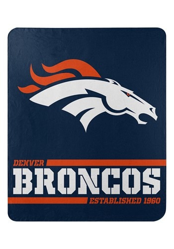 Denver Broncos Split Wide Fleece Throw